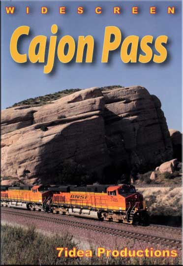 Cajon Pass BNSF Railways Cajon Sub DVD Train Video 7idea Productions BNSFCPDVD 884501548366
