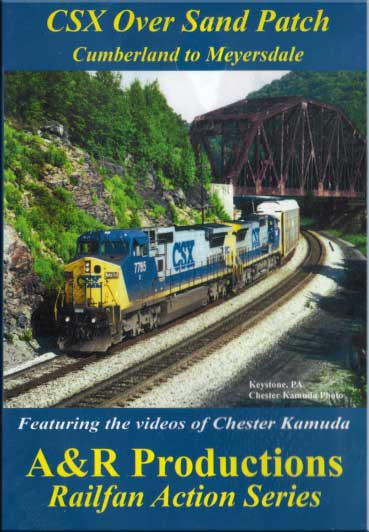 CSX Over Sand Patch Cumberland to Meyersdale DVD A&R Productions BO-1 753182442341