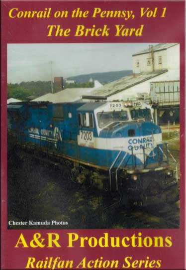 Conrail on the Pennsy Vol 1 - The Brick Yard DVD A&R Productions BY-1 753182442389