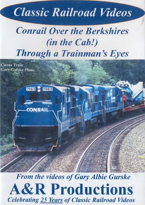 Conrail Over the Berkshires in the Cab - Through a Trainmans Eyes DVD Train Video A&R Productions CR-2 729440705848