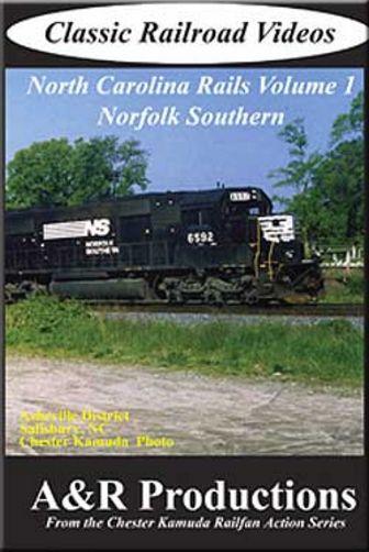 North Carolina Rails Vol 1 Norfolk Southern DVD A&R Productions NC-1 753182442433