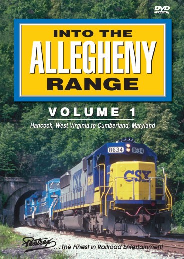 Into The Allegheny Range Volume 1 DVD Train Video Pentrex AR1-DVD 748268004773