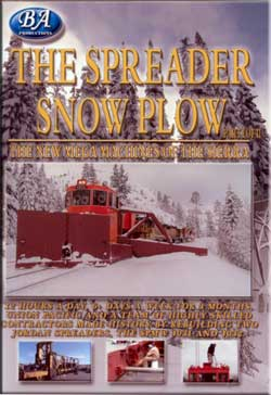 Spreader Snow Plow New Mega Machines of the Sierra Part 1 DVD Train Video BA Productions BA-SSP1DVD 721762308783