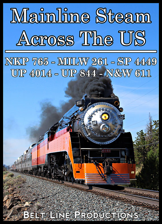 Mainline Steam Across The United States Vol. 1 - The 2010s Belt Line Productions BLMSV1D