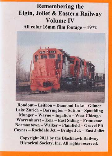 Remembering the EJ&E Ry Volume 4 DVD *Silent* Blackhawk Railway Historical Society EJE4
