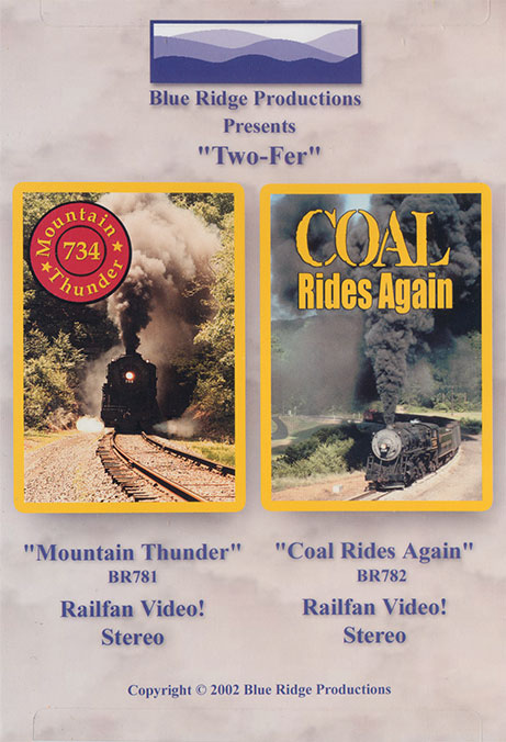 Two-Fer Combo Mountain Thunder and Coal Rides Again DVD Train Video Blue Ridge Productions BR7812 822170010197