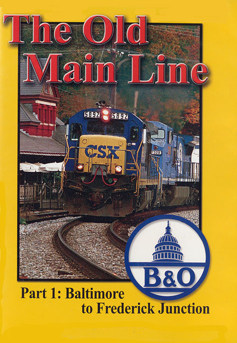 Old Main Line Part 1 Baltimore to Frederick Jct DVD Train Video Blue Ridge Productions BR789 822170010692