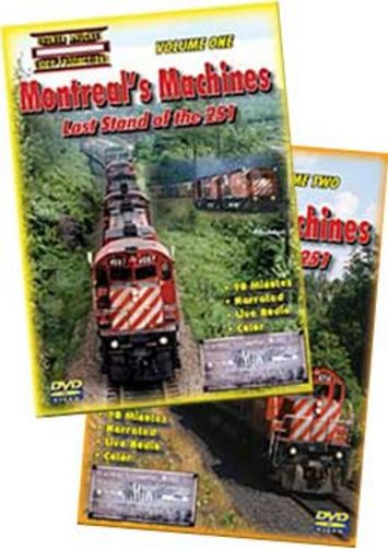 Montreals Machines Last Stand of the 251 Vol 1 & 2 DVD Set Train Video Broken Knuckle Video Productions BKMM-SET