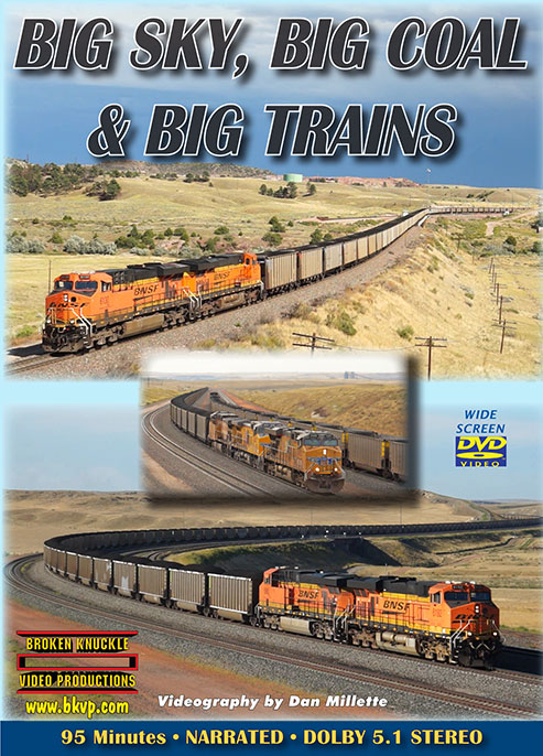 Big Sky Big Coal & Big Trains DVD Broken Knuckle Video Productions BBBDVD