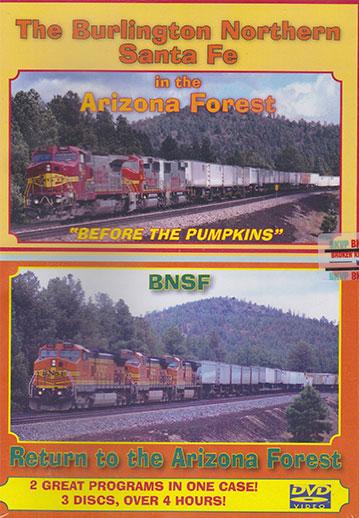 Burlington Northern Santa Fe in the Arizona Forest 3-Disc DVD  Broken Knuckle Video Productions BKBNSFAF-DVD