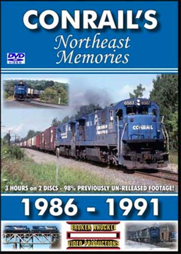 Conrails Northeast Memories Two-Disc DVD Train Video Broken Knuckle Video Productions CRNEM-DVD