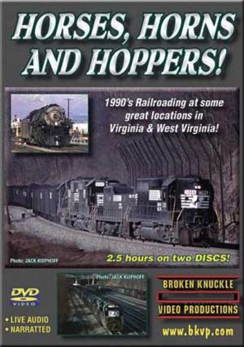 Horses Horns and Hoppers Norfolk Southern 2 DVD Set Broken Knuckle Video Productions HHH