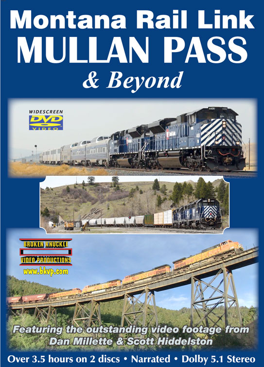 Montana Rail Link Mullan Pass and Beyond 2-Disc DVD Train Video Broken Knuckle Video Productions MUL-DVD