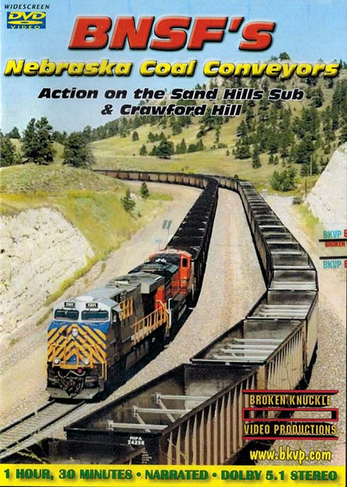 BNSFs Nebraska Coal Conveyors - Sand Hills Sub & Crawford Hill DVD Train Video Broken Knuckle Video Productions NCCDVD