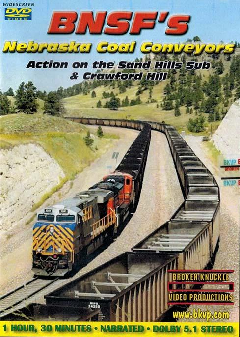 BNSFs Nebraska Coal Conveyors - Sand Hills Sub & Crawford Hill DVD Broken Knuckle Video Productions BKNCC-DVD