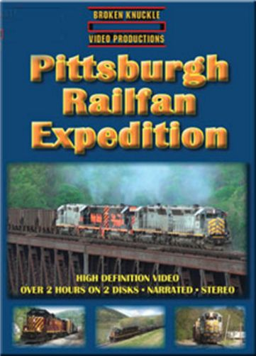 Pittsburgh Railfan Expedition 2-Disc DVD Broken Knuckle Video Productions BKPRE-DVD