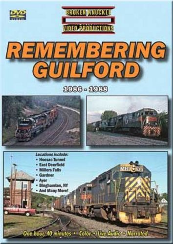 Remembering Guilford 1986-1988 DVD Train Video Broken Knuckle Video Productions REMGUIL