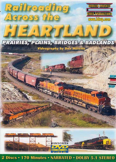 Railroading Across the Heartland 2 Disc DVD Broken Knuckle Video Productions HEART-DVD