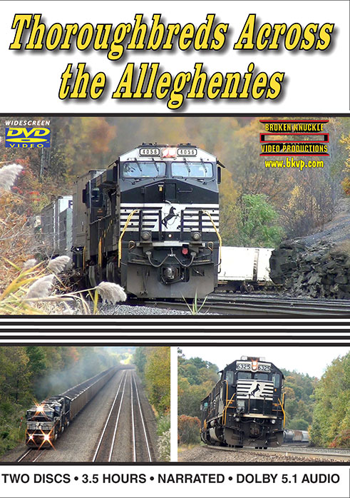 Thoroughbreds Across the Alleghenies 3.5 Hours!  DVD Broken Knuckle Video Productions BKTATA-DVD