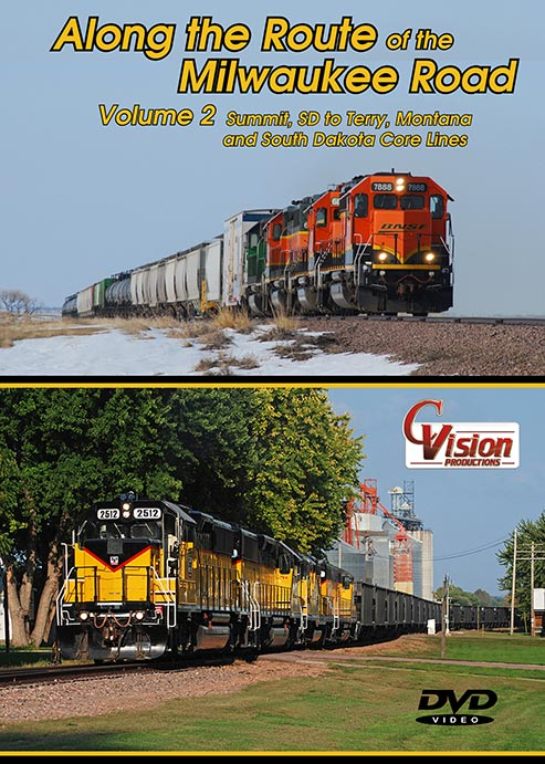Along the Route of the Milwaukee Road Vol 2 Summit SD to Terry MT DVD C Vision Productions ARM2