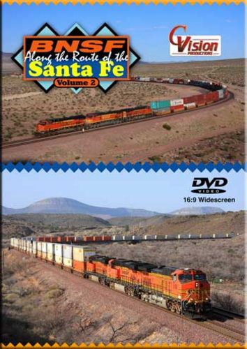 BNSF Along the Route of the Santa Fe Vol 2 DVD C Vision Productions BSF2DVD