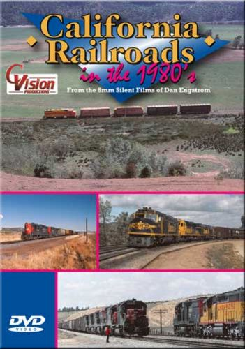 California Railroads in the 1980s DVD Train Video C Vision Productions CR80DVD