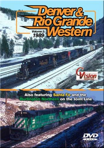 Denver & Rio Grande Western Volume 2 1989 DVD C Vision Productions DRGW2
