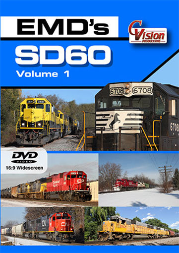 EMDs SD60 Volume 1 DVD C Vision Productions SD60V1D