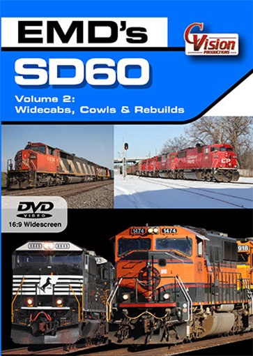 EMDs SD60 Volume 2 DVD C Vision Productions SD60V2D