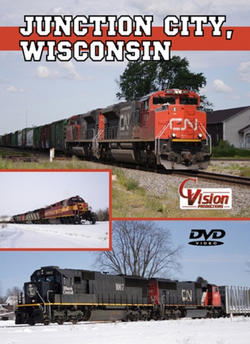 Junction City Wisconsin DVD Train Video C Vision Productions JCTW