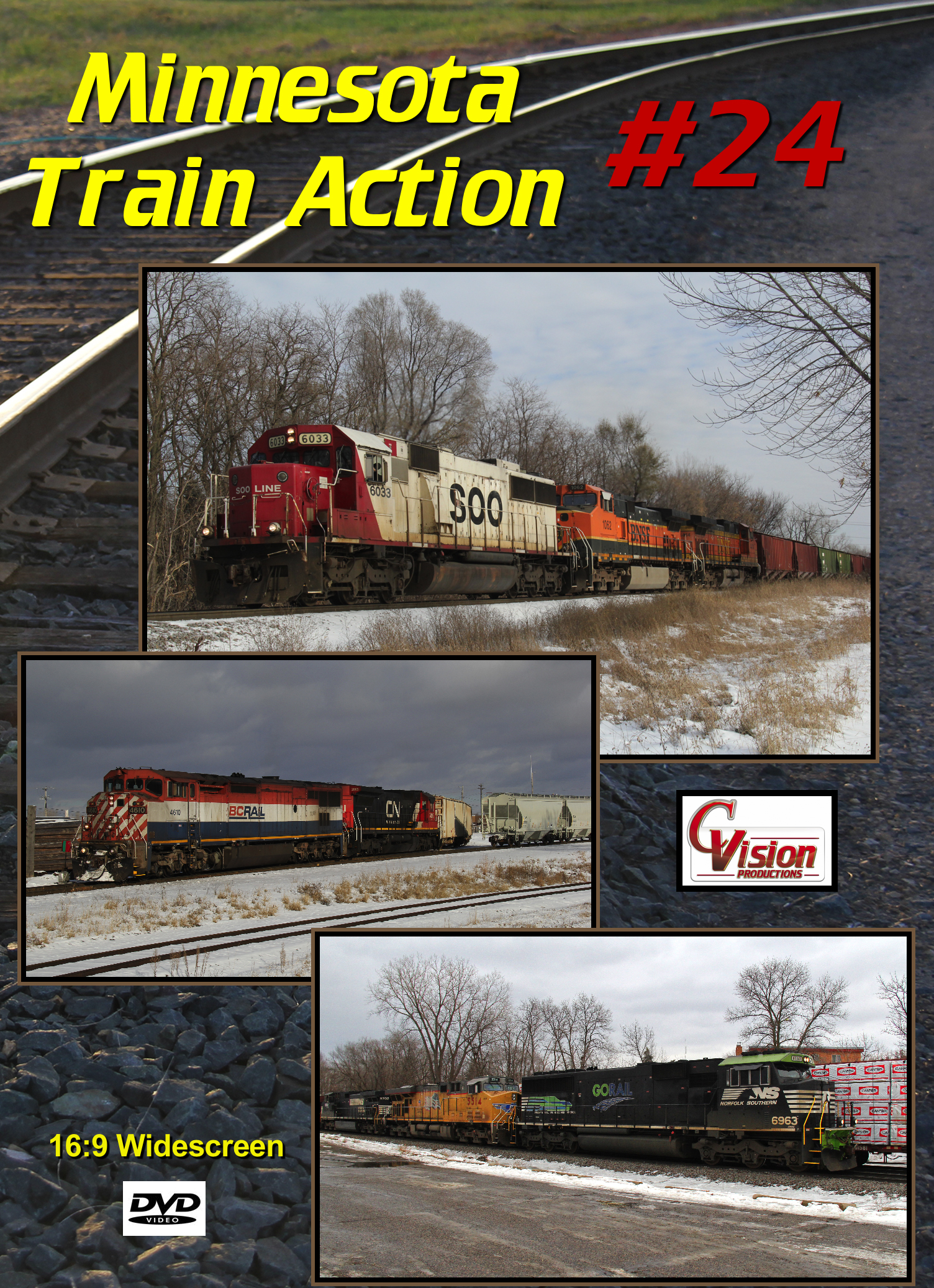 Minnesota Train Action Number 24 DVD C Vision Productions MTA24DVD
