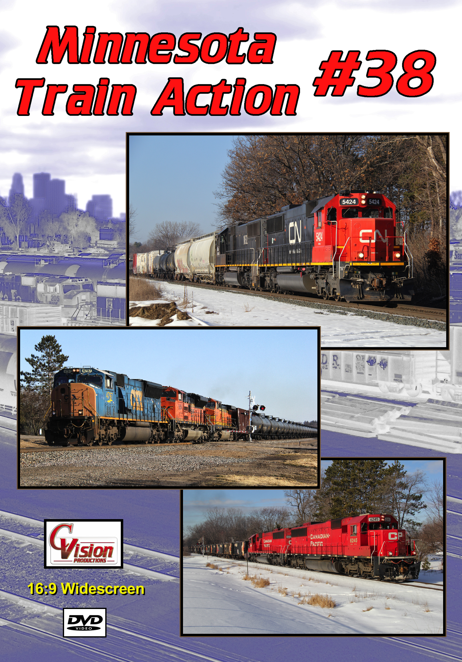 Minnesota Train Action Number 38 DVD C Vision Productions MTA38DVD