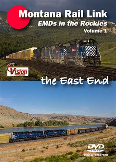 Montana Rail Link EMDs in the Rockies Volume 1 DVD C Vision Productions MRL1DVD