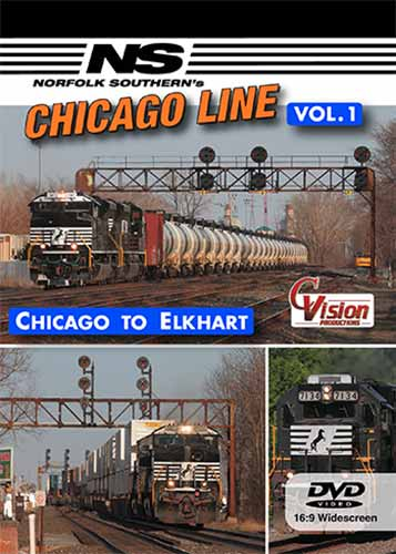 Norfolk Southerns Chicago Line Vol 1 Chicago to Elkhart DVD Train Video C Vision Productions NSC1