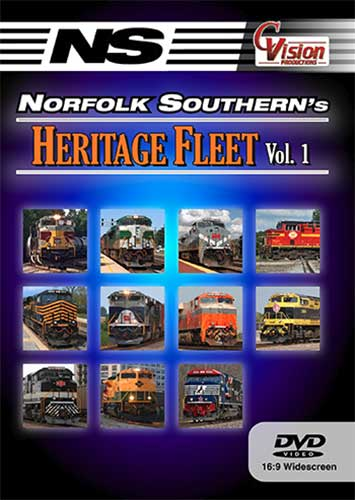 Norfolk Southerns Heritage Fleet Vol 1 DVD Train Video C Vision Productions NSH1DVD