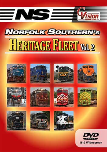 Norfolk Southerns Heritage Fleet Vol 2 DVD C Vision Productions NSH2DVD