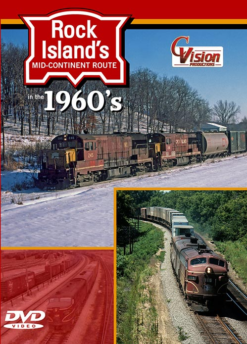 Rock Islands Mid-Continent Route 1960s DVD Train Video C Vision Productions RIM