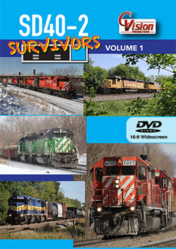SD40-2 Survivors DVD Volume 1 C Vision Productions SD402DVD