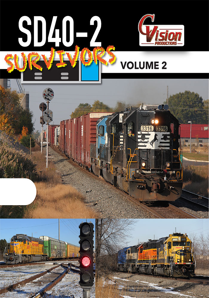SD40-2 Survivors DVD Volume 2 Train Video C Vision Productions SD402V2DVD