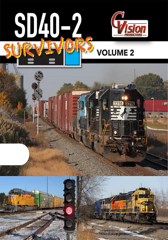 SD40-2 Survivors DVD Volume 2 C Vision Productions SD402V2DVD