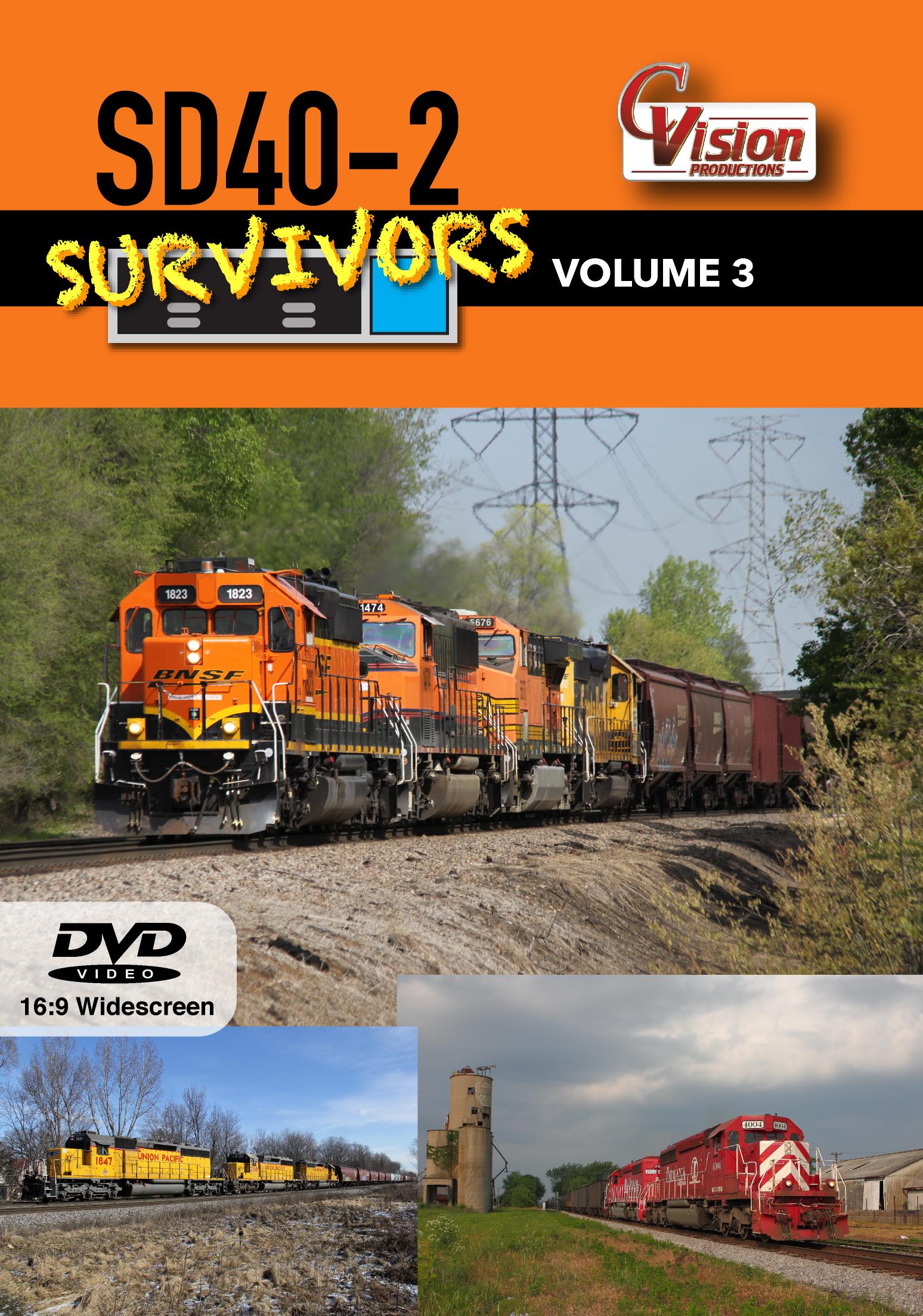 SD40-2 Survivors DVD Volume 3 C Vision Productions SDS3DVD
