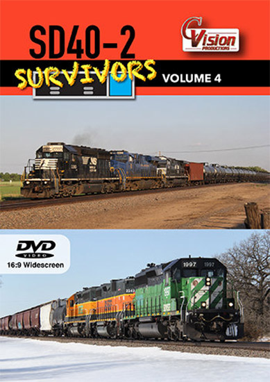 SD40-2 Survivors Volume 4 DVD C Vision Productions SD402V4DVD
