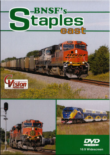 BNSFs Staples East DVD Train Video C Vision Productions STEDVD
