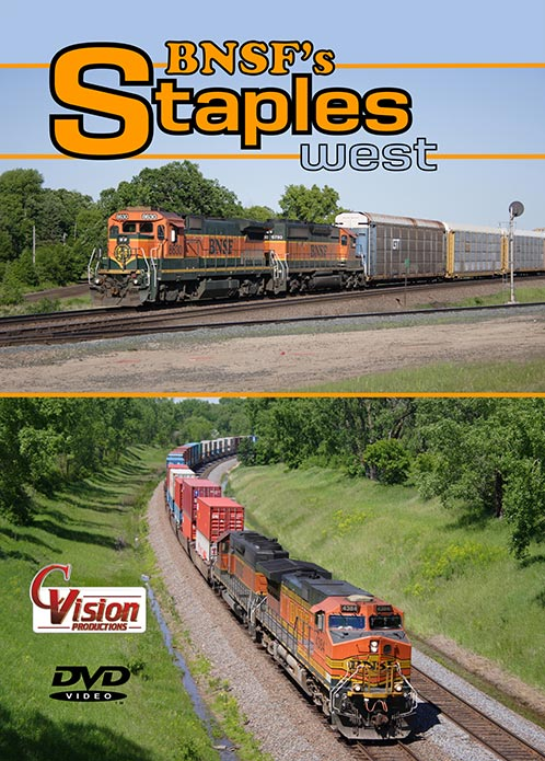 BNSF Staples West DVD Train Video C Vision Productions STWDVD