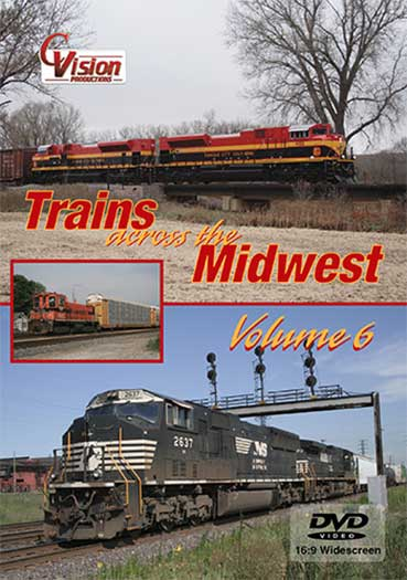 Trains Across the Midwest Volume 6 DVD C Vision Productions TAM6DVD