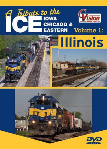 A Tribute to the Ice Vol 1 Iowa Chicago and Eastern DVD Train Video C Vision Productions TIC1DVD