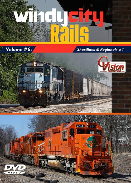 Windy City Rails Vol 6 Shortlines and Regionals DVD C Vision Productions WC6