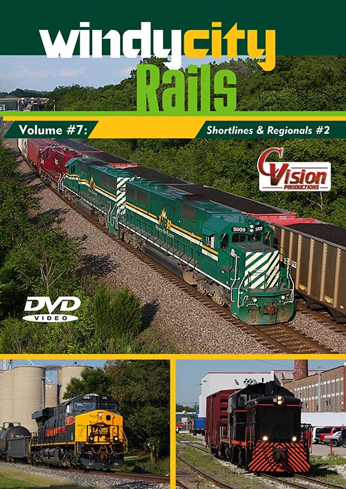 Windy City Rails Vol 7 Shortlines and Regionals 2 DVD Train Video C Vision Productions WC7DVD