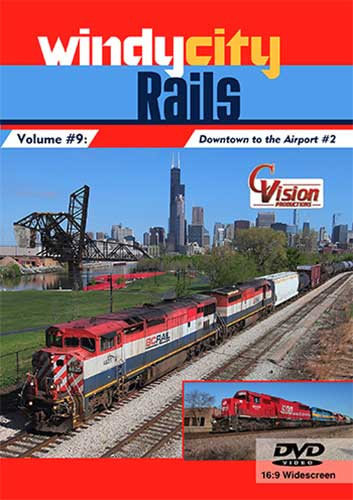 Windy City Rails Volume 9 Downtown to the Airport 2 DVD Train Video C Vision Productions WC9DVD