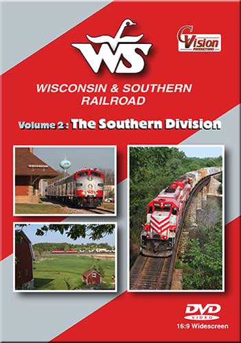 Wisconsin & Southern Railroad Volume 2 The Southern Division DVD Train Video C Vision Productions WSSDVD